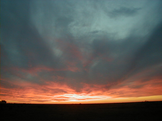 Sunset west of the Flinders Ranges